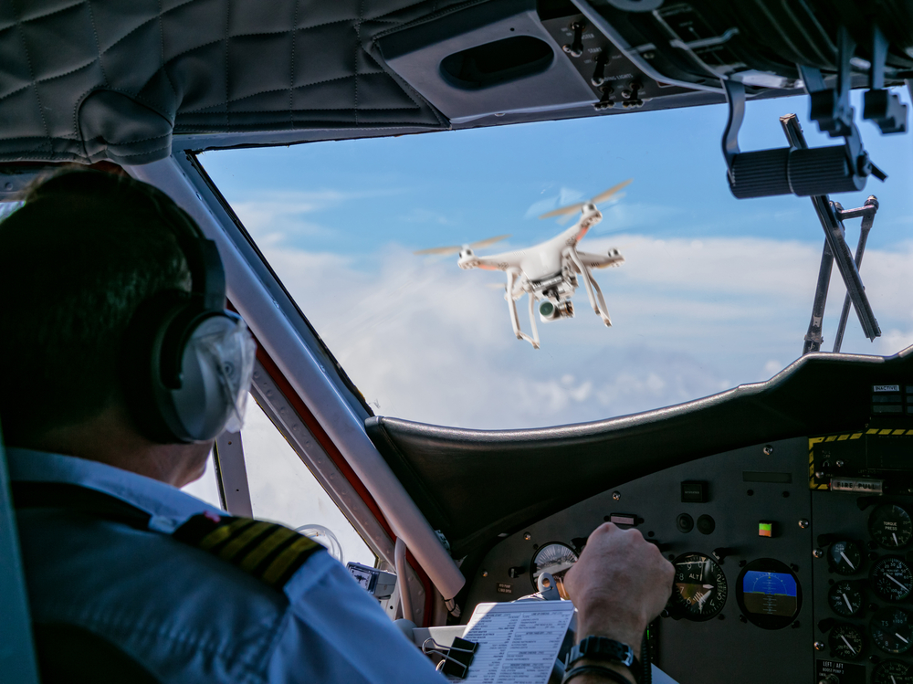 drone in front of pilot